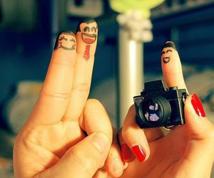fingers, camera, and photography image