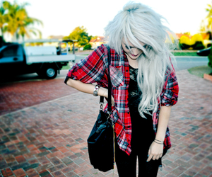 girl, hair, and cherry amber image