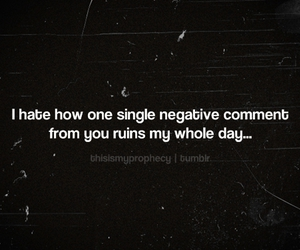 quote, negative, and sad image