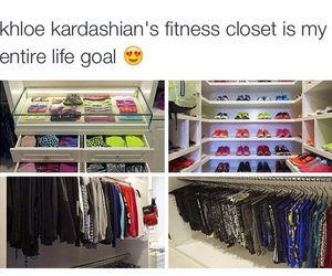 fitness, closet, and workout image