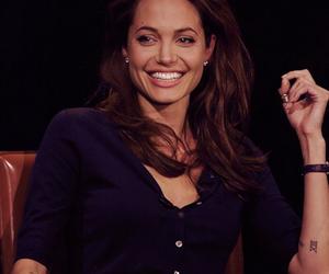 Angelina Jolie, smile, and woman image