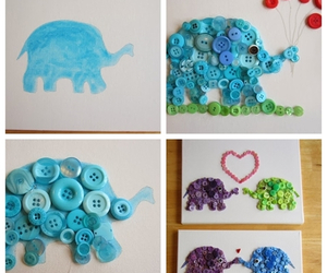 diy, elephant, and buttons image