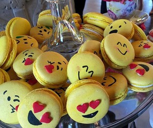 macaroons, friends, and emoji image