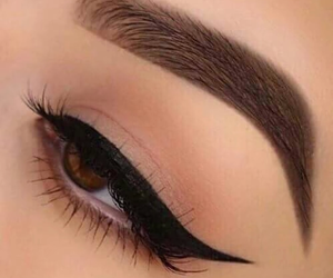 brown eyes, eyelashes, and makeup image