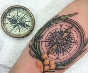 tattoo and compass tattoo image