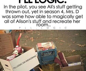 pll, pretty little liars, and pll logic image