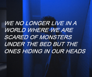grunge, monsters, and quote image