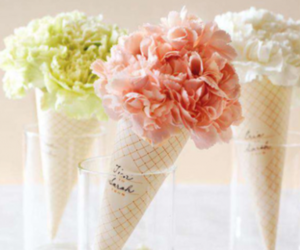 flowers, ice cream, and rose image