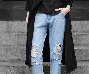 blue jeans, clothes, and denim image