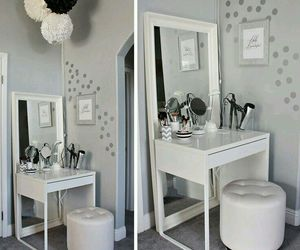 makeup, vanity, and white image