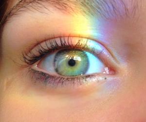 rainbow, eyes, and tumblr image