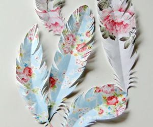 feather and flowers image