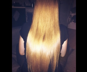 blonde, long, and girl image