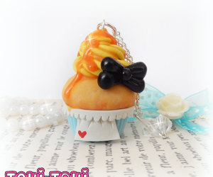 alice in wonderland, polymer clay charms, and cute kawaii jewelry image