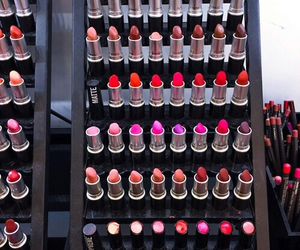 lipstick, makeup, and girl image