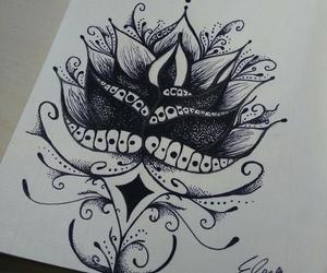 mandala, passion, and tattoo image