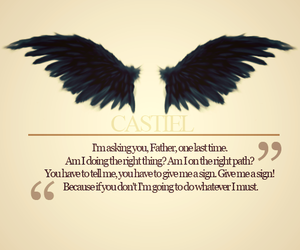 castiel, quote, and spn image