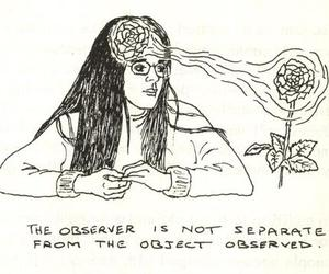 flowers, art, and observer image
