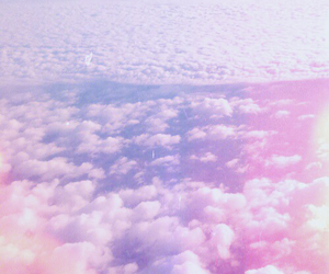 clouds, pink, and purple image