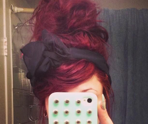 hair, hairstyle, and red image