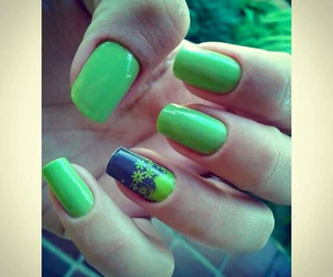 adesivo, nails, and flores image
