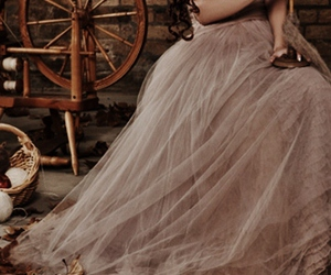 dress, fairytale, and leaves image