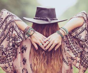 bracelet, girl, and brown hair image