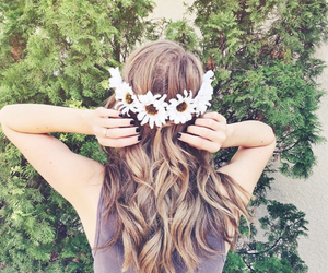 flowers, hair, and tumblr image
