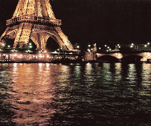 eiffel tower, night, and photography image