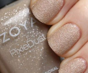 beige, glitter, and nails image