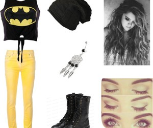 batman, beanie, and boots image