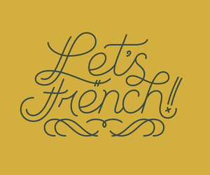 french, let's french, and paris image