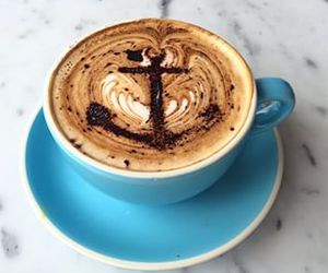 coffee, anchor, and love image