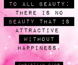 Christian Dior, happines, and text image