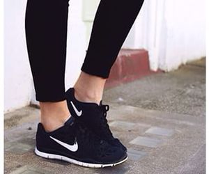 black and white, fit, and shoes image