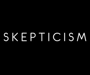 black, white, and skepticism image