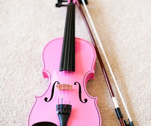 pink, music, and violin image