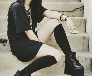 goth, fashion, and black image
