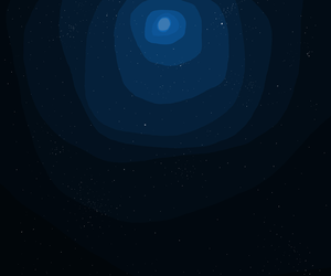 blue, moon, and space image