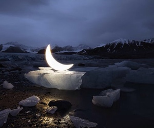 moon, night, and ice image