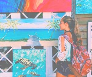girl, summer, and art image