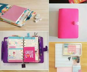 school, diy, and pink image