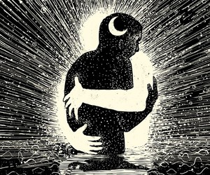 moon, hug, and light image