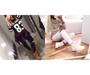 black and white, boots, and girl image