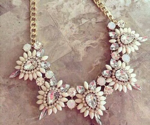 bling, girl, and statement necklace image