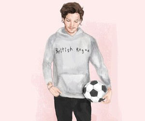 louis tomlinson, one direction, and fan art image