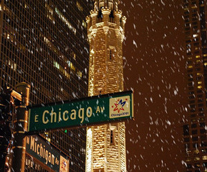 chicago and snow image