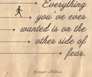 fear, goals, and happiness image
