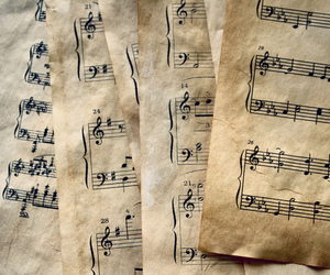 music, notes, and Paper image