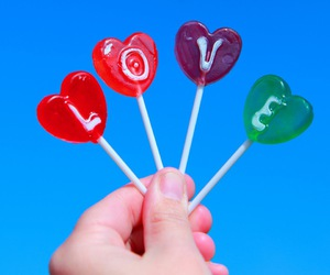 love, candy, and lollipop image